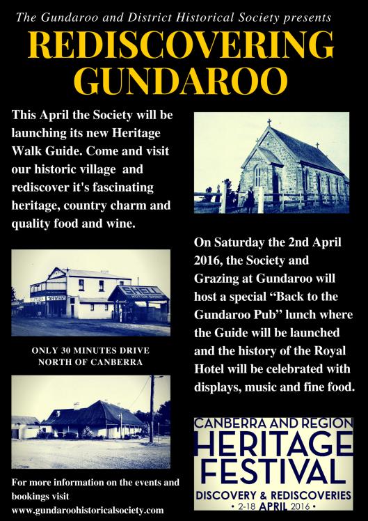 Poster 1 Rediscovering Gundaroo